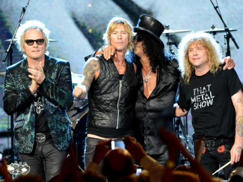 GUNS N ROSES AND THE ROCK AND ROLL HALL OF FAME INDUCTION 2012